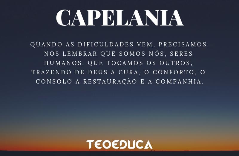 Os desastres e a ação necessária da CAPELANIA